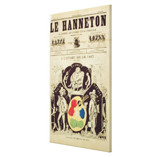 Cover of 'Le Hanneton', depicting 'The Artists Bef Canvas Print