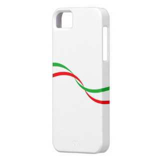 Cover of mobile with Italian flag iPhone 5 Cases