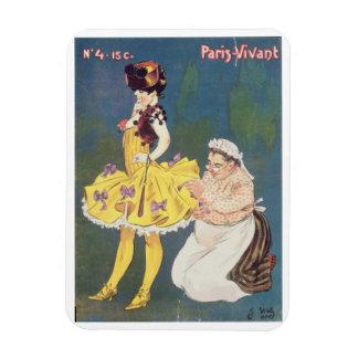 Cover of 'Paris-Vivant' Magazine, 1901 (colour lit Rectangular Photo Magnet