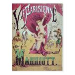Cover of score sheet 'La Vie Parisienne Postcard