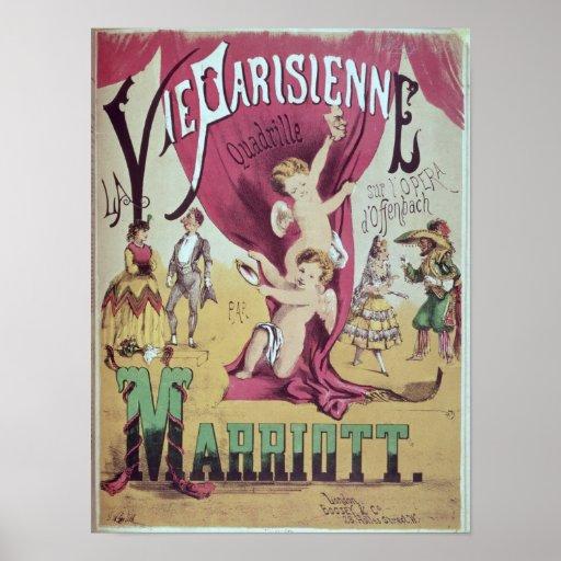 Cover of score sheet 'La Vie Parisienne Poster