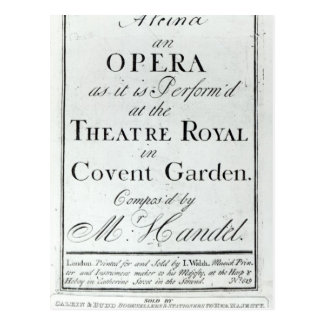 Cover of Sheet Music for Alcina Postcard