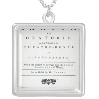 Cover of Sheet Music for Samson Square Pendant Necklace