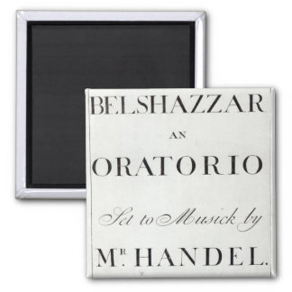 Cover of the score for Belshazzar by Handel Magnet