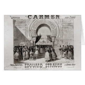 Cover of the score of piano quadrille cards