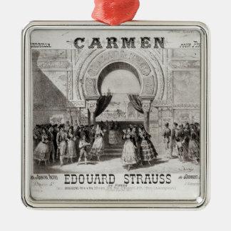 Cover of the score of piano quadrille metal ornament