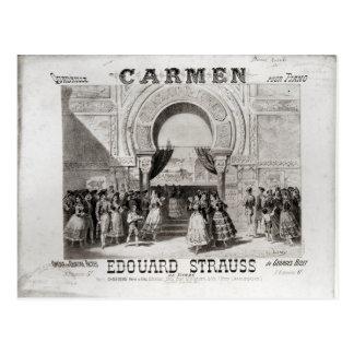 Cover of the score of piano quadrille postcard