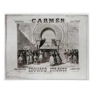 Cover of the score of piano quadrille poster