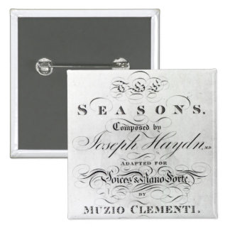 Cover of the score sheet of 'Seasons' Pin