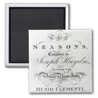Cover of the score sheet of 'Seasons' Magnet