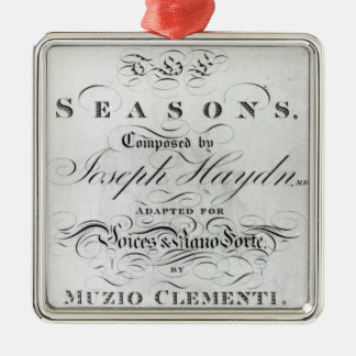 Cover of the score sheet of 'Seasons' Metal Ornament