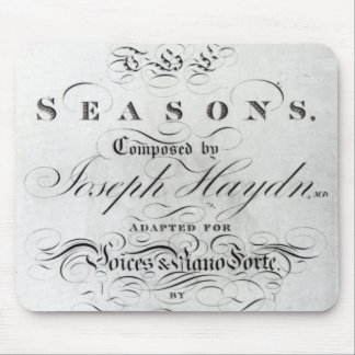 Cover of the score sheet of Seasons Mousepads