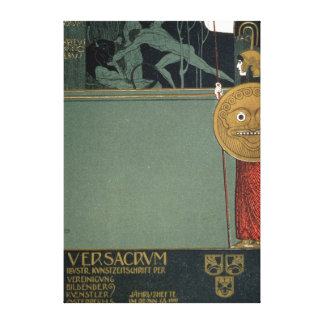 Cover of Ver Sacrum the journal of the Canvas Print