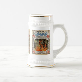 Cover page from L'Intrepide, vintage Beer Stein