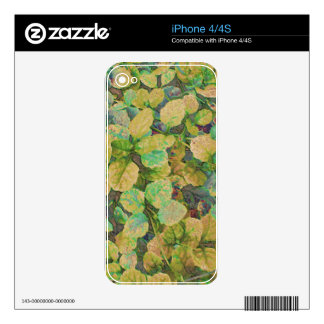 Cover Plant Skin For The iPhone 4