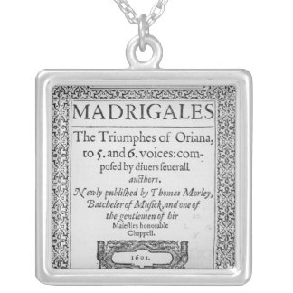 Cover to the Tenor part Square Pendant Necklace