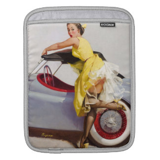Cover up retro pinup girl