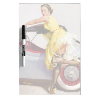 Cover up retro pinup girl Dry-Erase board