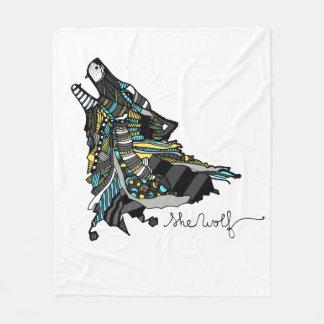 "Cover ""Wolf "" Fleece Blanket"