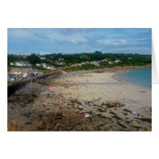 Coverack Beach Cornwall England Photo Card