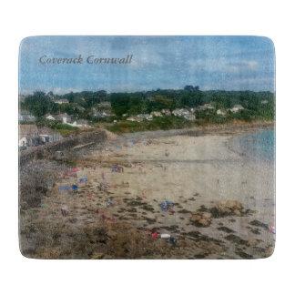 Coverack Beach Cornwall England Photo Cutting Board