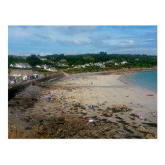 Coverack Beach Cornwall England Photo Postcard