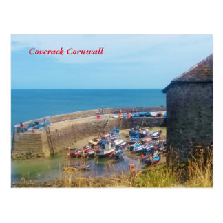 Coverack Harbour The Lizard Cornwall England Postcard