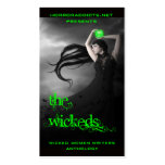 covercard4, horroraddicts.netpresents, wicked w... business card templates