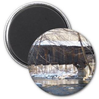 Covered Bridge 2 Inch Round Magnet