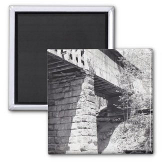 Covered Bridge 2 Inch Square Magnet