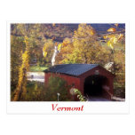 Covered Bridge and Common West Arlington, Vermont Postcard