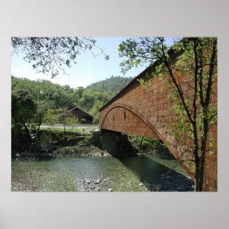 Covered Bridge at Bridgeport, California Poster