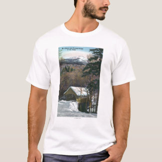Covered Bridge at Flume in Winter T-Shirt