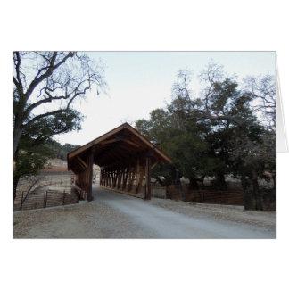 Covered Bridge at Halter Ranch, Paso Robles Card