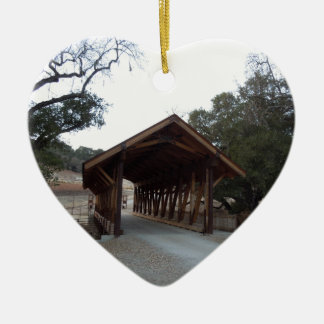 Covered Bridge at Halter Ranch, Paso Robles Ceramic Ornament