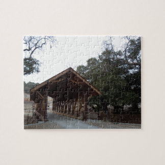 Covered Bridge at Halter Ranch, Paso Robles Jigsaw Puzzle