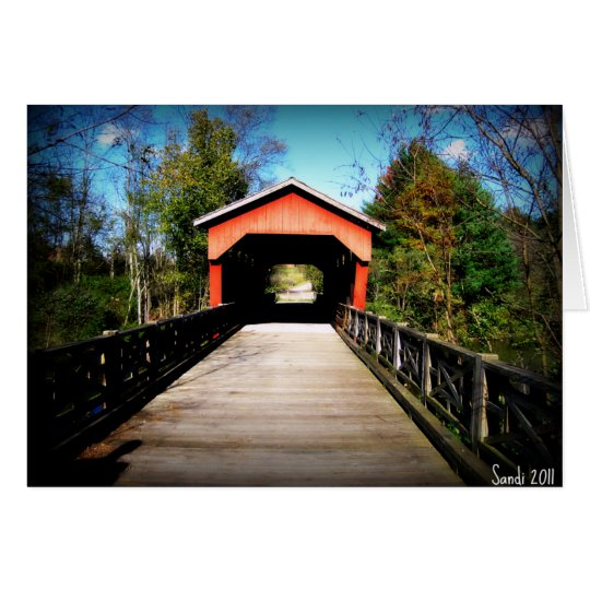 Covered Bridge Belmont County, Ohio Card