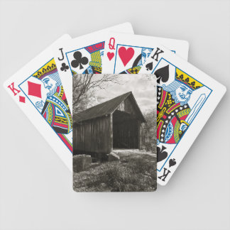 Covered Bridge Bicycle Playing Cards