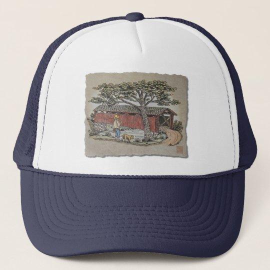 Covered Bridge & Boy Trucker Hat