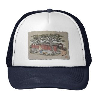 Covered Bridge & Boy Trucker Hat