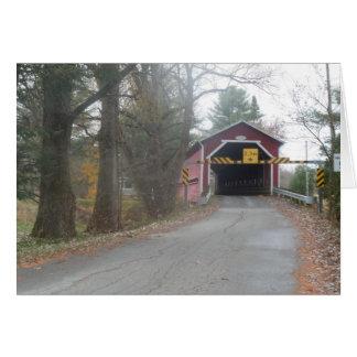 Covered Bridge, Brigham, Quebec - Card