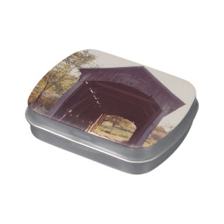 Covered Bridge Candy Tin