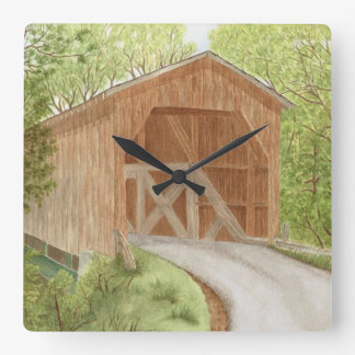 Covered Bridge - Clock