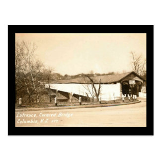Covered Bridge, Columbia, New Jersey Vintage Postcard