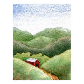 """Covered Bridge"" Country Roads Postcard"