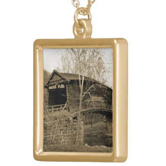 Covered Bridge Gold Plated Necklace