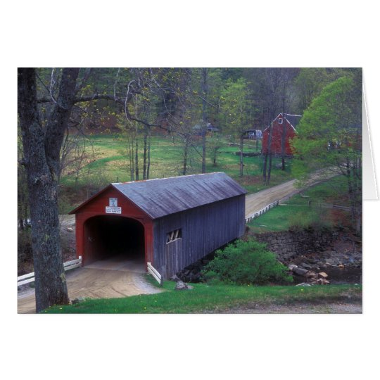 Covered Bridge Guilford Vermont Card