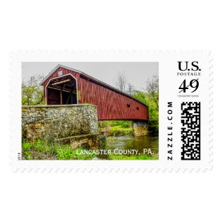 Covered Bridge - Lancaster County Pa - US stamp