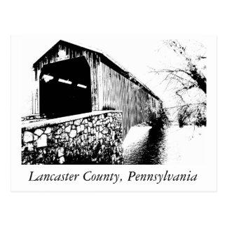 Covered Bridge - Lancaster County Postcard
