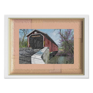 Covered Bridge - Lancaster PA - art print